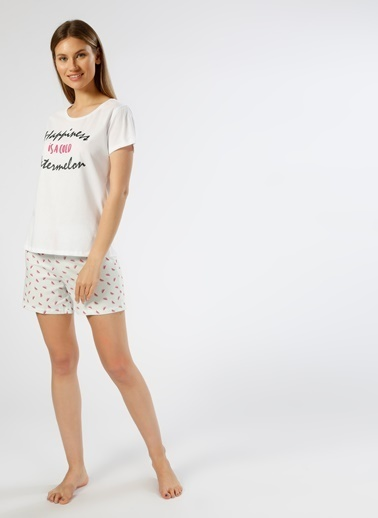 T-Box Pijama Takım Beyaz